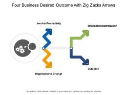 Four Business Desired Outcome With Zig Zacks Arrows