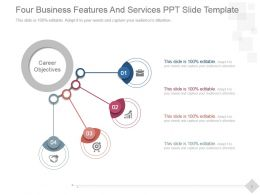 Four Business Features And Services Ppt Slide Template
