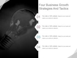 Four Business Growth Strategies And Tactics Powerpoint Design