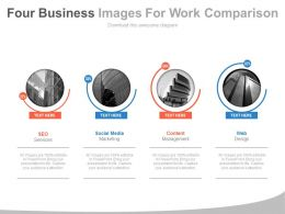 Four Business Images For Work Comparison Powerpoint Slides