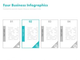 Four Business Infographics For Variance And Standard Deviation Powerpoint Slides