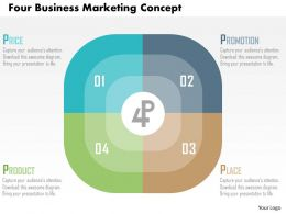 Four Business Marketing Concept Flat Powerpoint Design