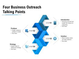 Four Business Outreach Talking Points