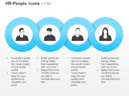 Four Business People Communication Ppt Icons Graphics