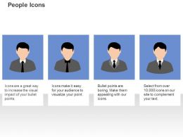 Four Business Peoples Communication Ppt Icons Graphics
