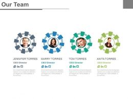 Four Business Peoples For Social Networking Powerpoint Slides