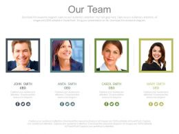 Four Business Peoples Icons For Expert Team Formation Powerpoint Slides