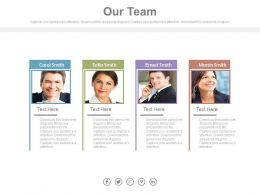 Four Business Peoples Tags For Team Management Powerpoint Slides