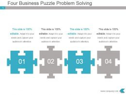 Four Business Puzzle Problem Solving Powerpoint Design
