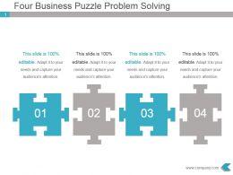 four_business_puzzle_problem_solving_powerpoint_design_Slide01