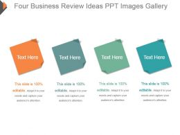 Four Business Review Ideas Ppt Images Gallery