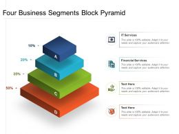 Four Business Segments Block Pyramid