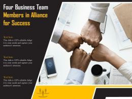 Four Business Team Members In Alliance For Success