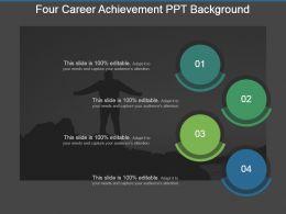 Four Career Achievement Ppt Background
