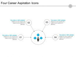 Four Career Aspiration Icons 4 Powerpoint Slide Graphics