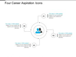 Four Career Aspiration Icons Powerpoint Slide Ideas