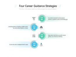 Four Career Guidance Strategies