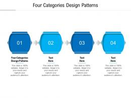 Four Categories Design Patterns Ppt Powerpoint Presentation Outline Samples Cpb