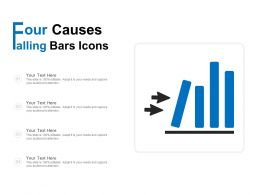 Four Causes Falling Bars Icon
