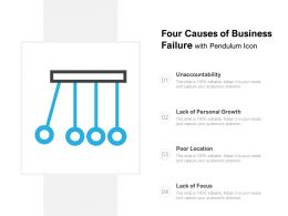Four Causes Of Business Failure With Pendulum Icon