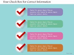 four_check_box_for_correct_information_flat_powerpoint_design_Slide01