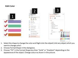Four Check Box For Correct Information Flat Powerpoint Design