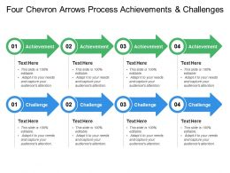 four_chevron_arrows_process_achievements_and_challenges_Slide01