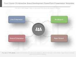 Four Choice Of Interactive Brand Development Powerpoint Presentation Templates