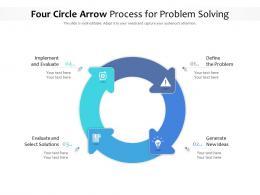 Four Circle Arrow Process For Problem Solving