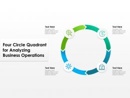Four Circle Quadrant For Analyzing Business Operations