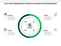 Four Circle Quadrant For Product Innovation And Deployment
