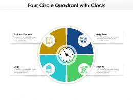 Four Circle Quadrant With Clock