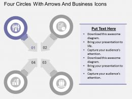 four_circles_with_arrows_and_business_icons_flat_powerpoint_design_Slide02