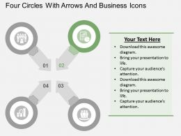 four_circles_with_arrows_and_business_icons_flat_powerpoint_design_Slide03