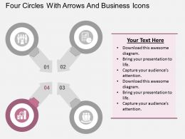 four_circles_with_arrows_and_business_icons_flat_powerpoint_design_Slide05