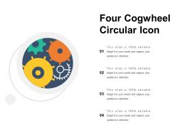 Four Cogwheel Circular Icon