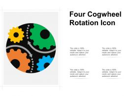 Four Cogwheel Rotation Icon