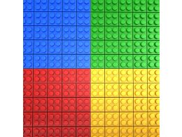 Four Color Block In Square Shape Stock Photo