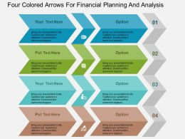 Four Colored Arrows For Financial Planning And Analysis Flat Powerpoint Design