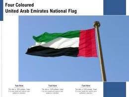 Four Coloured United Arab Emirates National Flag