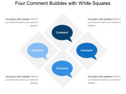 Four Comment Bubbles With White Squares