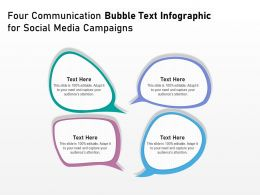 Four Communication Bubble Text Infographic For Social Media Campaigns