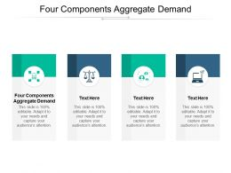 Four Components Aggregate Demand Ppt Powerpoint Presentation Layouts Background Images Cpb