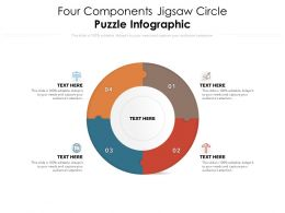 Four Components Jigsaw Circle Puzzle Infographic