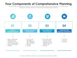 Four Components Of Comprehensive Planning