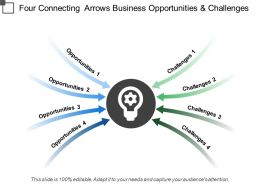 Four Connecting Arrows Business Opportunities And Challenges