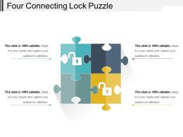 Four Connecting Lock Puzzle