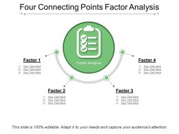 Four Connecting Points Factor Analysis