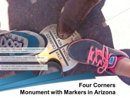Four Corners Monument With Markers In Arizona