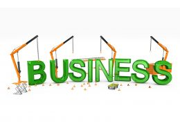Four Cranes With Business Text Word Stock Photo